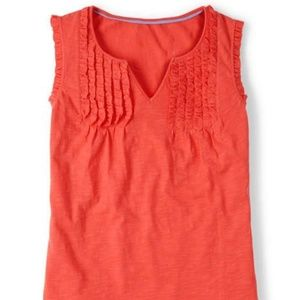 BODEN 8 Coral Ruth Top 100% Cotton
